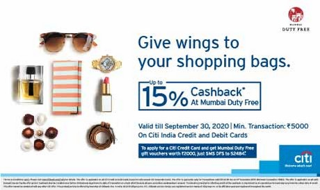 Citi Bank Cash back offer