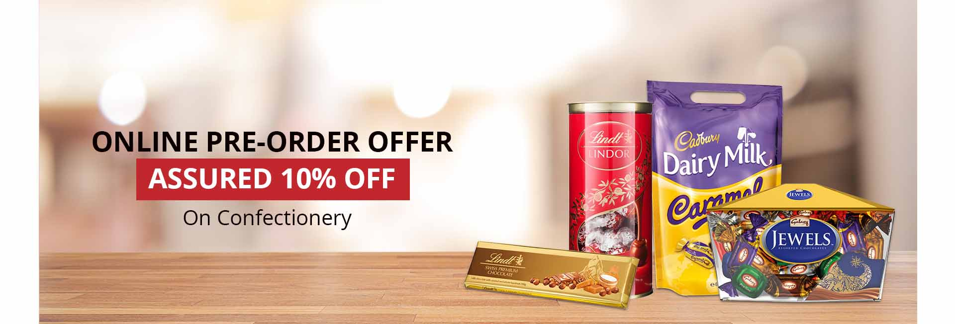 Pre-order discount - Confectionery