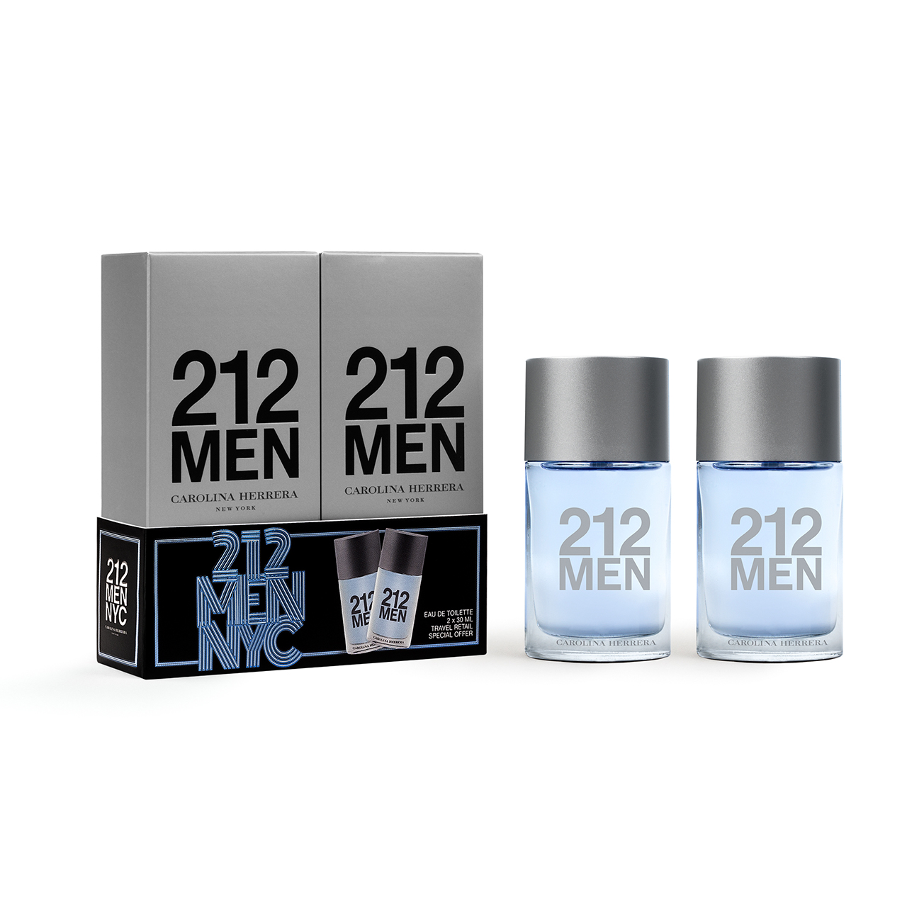 Carolina Herrera 212Men EDT Travel Set 2x30ml